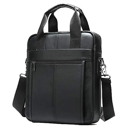 Business PU Leder 13' Laptop Aktentasche Handtasche Einfache Herren Vertikale One-Shoulder Messenger Bag