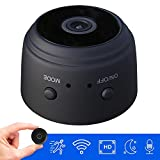 Hidden Mini Spy Camera with Audio and Video Live Feed WiFi with Cell Phone App Wireless Recording -1080P HD Mini Nanny Cams Wireless with Night Vision and Motion Detection Built-in Battery