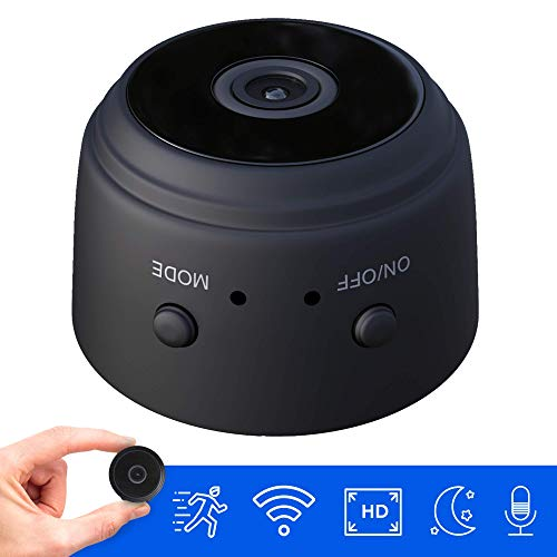 Hidden Mini Spy Camera with Audio and Video Live Feed WiFi with Cell Phone App Wireless Recording -1080P HD Mini Nanny Cams Wireless with Night Vision and Motion Detection Built-in Battery (Black)