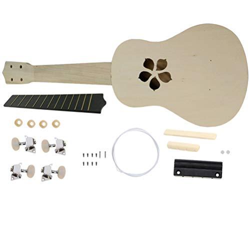 Artibetter Ukelele Diy Kit Zelf Monteren Ukulele Kit Hand Schilderij Muziekinstrument Voor Kinderen Kinderen Beginner Kunstproject (Kersenbloesem)