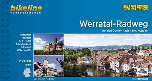 Bikeline Werratal-Radweg: Von den Quellen nach Hann. Münden, 329 km, Radtourenbuch 1:50 000, wetterfest/reißfest, GPS-Tracks-Download