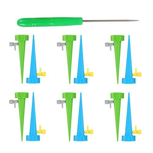 Irrigazione a Goccia Per Vasi 12 Pezzi Regolabile Irrigazione Automatica Sistema Pianteirrigazione Piante Irrigazione Goccia innaffiare Dispositivo Regolabile con Valvola di Controllo a Rilascio Lento