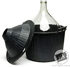 54 Litre Glass Demijohn with Plastic Wicker Basket