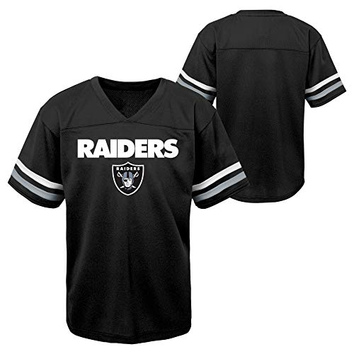 Outerstuff NFL Toddlers Short Sleeve Football Team Jersey, Las Vegas Raiders 3T