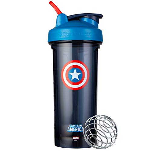 Blender Bottle Marvel Comics Pro Series Shaker Bottle, 28-Ounce, Captain America Shield Maryland