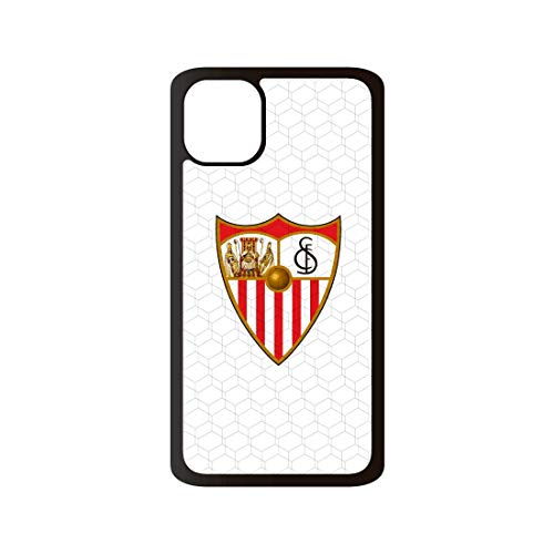 Funda móvil Sevilla Escudo Blanca Compatible con iPhone 11. Carcasa de TPUde Alta protección. Funda Antideslizante, Anti choques y caídas.