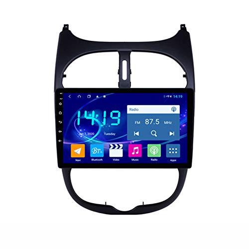 STTTBD Lettore Multimediale da 9 Pollici con Autoradio Android 9.1 per Peugeot 206 Autoradio Schermo 2.5D con WiFi Bluetooth FM AM Controllo del Volante(Color:WiFi 2G+32G)