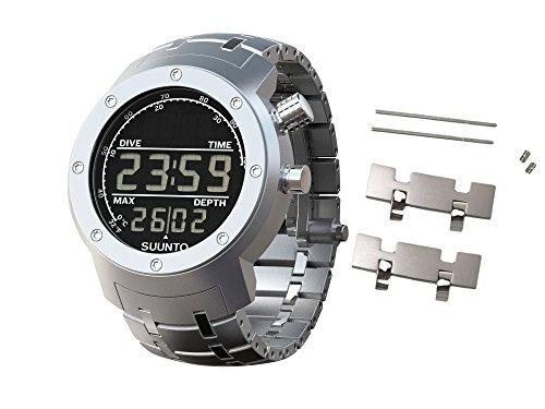 Suunto Elementum Aqua Watch (One size, Steel with Spare Links Bundle)