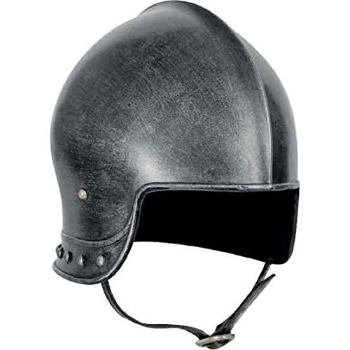 Disfraz medieval de centinela oscuro casco alerpa armadura caballero