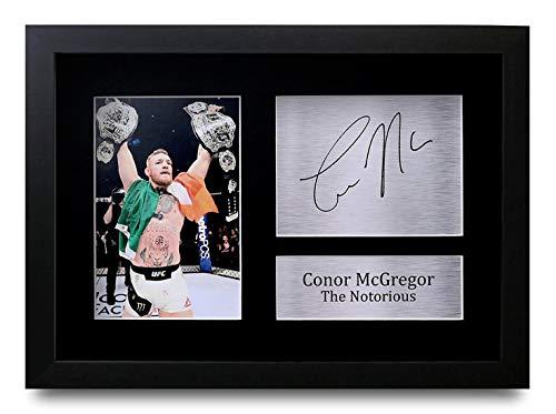HWC Trading Conor McGregor A4 Gerahmte Signiert Gedruckt Autogramme Bild Druck-Fotoanzeige Geschenk Für UFC Fans