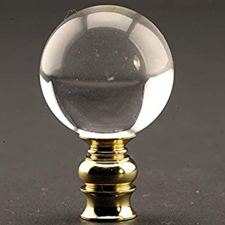 Acrylic Ball Lamp Finial with Polished Brass Base 2