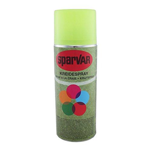 SparVar 6001012 Kreidespray Neon mit Überkopfdüse, 400 ml, leuchtgelb