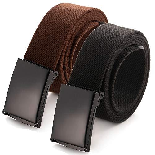 Cut To Fit Canvas Web Belt Grootte tot 52 inch met Flip-Top Solid Black Military Buckle (16 kleuren en Combo Pack opties)