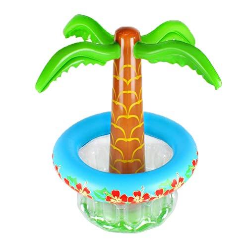 Cubo de hielo de vino de champán PVC enfriador de bebidas almacenamiento cubo de hielo del árbol de coco del partido de whisky tropical de la playa de Hawai Piscina de verano inflable de contenedores