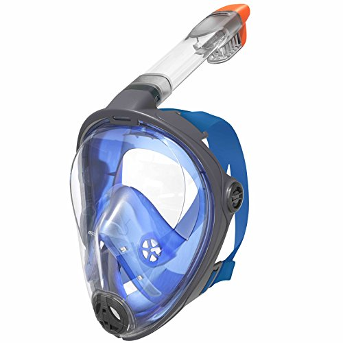 Best Sporting Vollgesichtsmaske zum Tauchen und Schnorcheln für Jugendliche und Erwachsene Dry Top System, Größe S/M