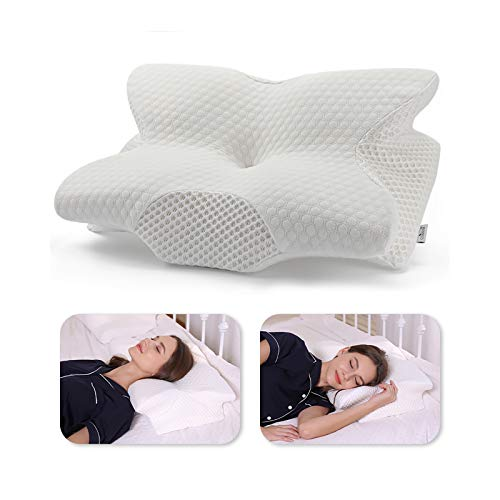 Our #6 Pick is the Coisum Back Sleeper Cervical Pillow for Neck Pain