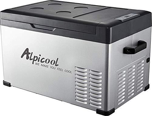 ZZKK draagbare koelbox voor auto, turck, camper, boot, mini-koelkast, voor lopen, binnen en buiten, 12/24 V DC en 110-240 AC