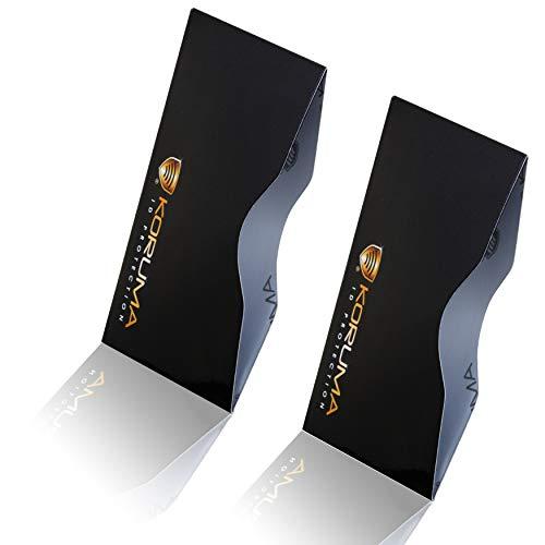 Koruma Porta carte di credito/debito con sistema che blocca i segnali RFID/NFC, confezione da 2 KUK-87HBLG