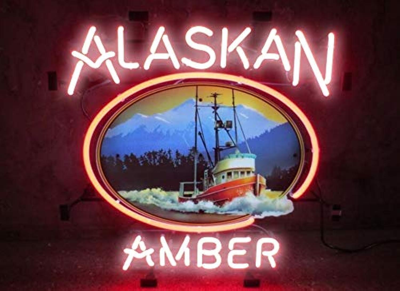 Alaskan Amber Real Glass Beer Bar Pub Store Party Room Wall Windows Display Neon Signs