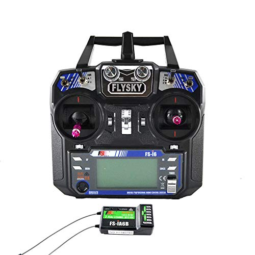 Flysky FS-i6 AFHDS 2.4GHz 6CH RC Radio System Transmitter with FS-iA6B Receiver for Airplane Heli UAV Multicopter Drone