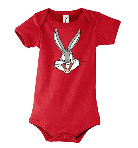 Youth Designz Bunny Bugs - Body para bebé y niña, talla 6-18 meses. rojo 12-18 Meses