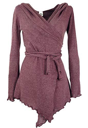 GURU SHOP Pixi Wickel-Strickjacke, Damen, Altrosa, Baumwolle, Size:38, Jacken, Mäntel & Ponchos Alternative Bekleidung