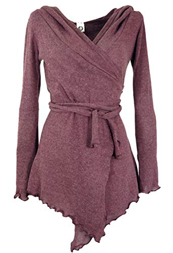 Guru-Shop Pixi Wickel-Strickjacke, Damen, Altrosa/Modell 1, Baumwolle, Size:38, Jacken, Mäntel & Ponchos Alternative Bekleidung