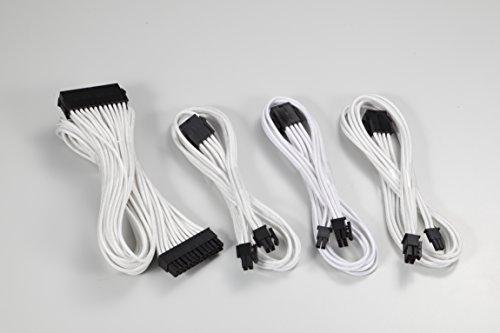 Phanteks 24 Pin/ 8pin (4+4) M/B, 8pin (6+2) PCI-E Extension Cable Kit 500mm Length, White (PH-CB-CMBO_WT)