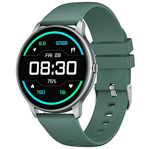 YAMAY Smartwatch für Damen Herren,1.28 Zoll HD Farbdisplay Fitnessuhr Smart Watch mit 13 Trainingsmodi,Fitness Tracker mit Pulsuhr,Schrittzähler,Hunderte von Zifferblättern,Anruf SMS SNS Beachten
