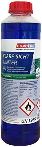 EUROLUB Scheibenfrostschutz KLARE SICHT Winter Konzentrat, 1 Liter