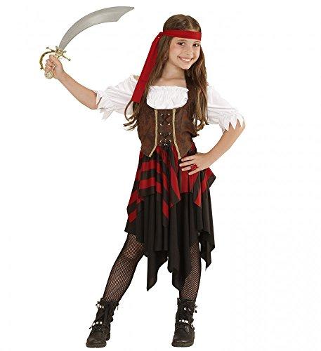 shoperama Piratin-Kostüm für Mädchen Kinder-Kostüm Piratenmädchen Piratenkostüm Teenager Pirat, Kindergröße:140 - 8 bis 10 Jahre