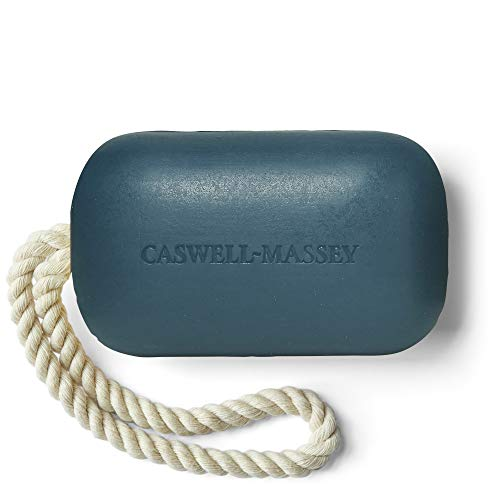 Caswell-Massey Triple Milled Luxury Bath Soap Newport Soap On A Rope - Famed Fragrance - 8 Ounces, Blue