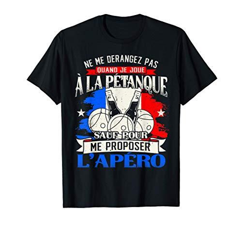 Petanque Humour Boccia Homme Pétanque Cadeau T-Shirt