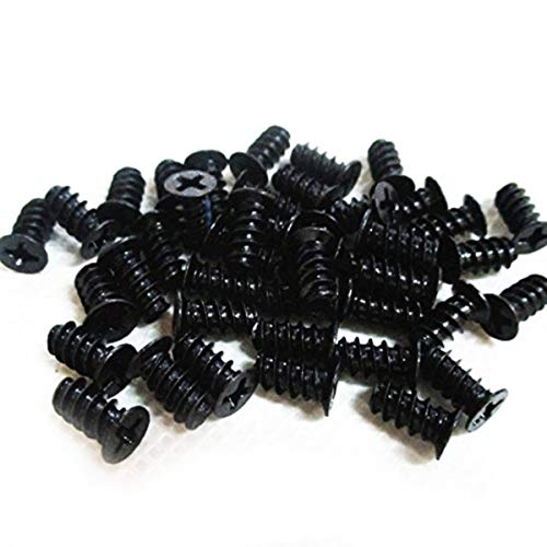 Easycargo Computer Case Fan Screws Black, Fan Screws PC, Fan Screws for 70mm, 80mm, 90mm, 92mm, 120mm, 140mm PC Cooling Fan (50 Pack)