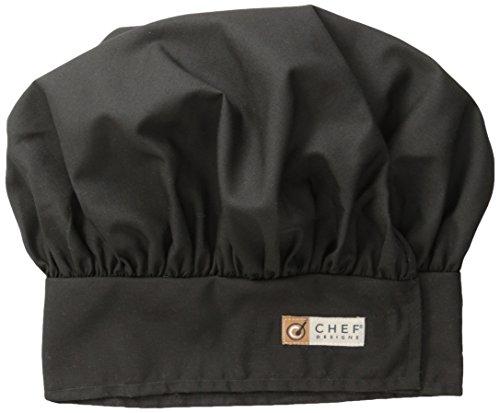 Red Kap Chef DesignsChef Hat, Black, Large