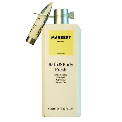 Marbert Bath & Body Fresh, Set (Fresch Duschgel, 400 ml + AquaBooster Serum, 15 ml)