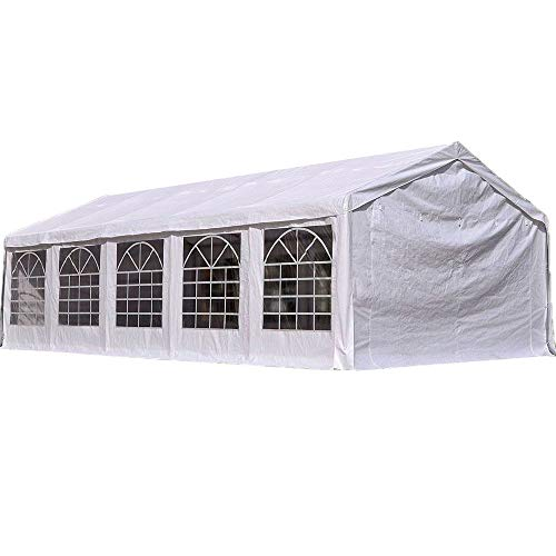 Quictent 16' X 32' /5M X 10M Heavy Duty Carport Party Wedding Tent Canopy Gazebo Car Shelter with Carry Bags