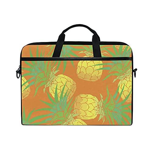 Bolsa Para Portátil Pineapple Tropical Laptop Shoulder Messenger Bag Funda Con Correa De Hombro Ajustable Para Portátil