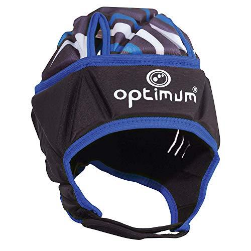 OPTIMUM Razor Headguard Casco, Unisex-Adult, Negro/Azul,