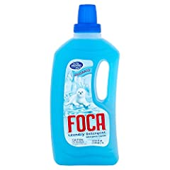 Each of 2 bottles of Foca Liquid Laundry Detergent is 33.81 Oz (1 L) Foca Liquid Laundry Detergent whitens your clothes as white as snow. Maximum cleaning power that goes way beyond cleaning. Foca Liquid Laundry Detergent Phosphate Free; Contains bio...