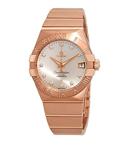 Omega Constellation Silver Dial Rose Gold Men's Watch 123.55.38.21.52.007