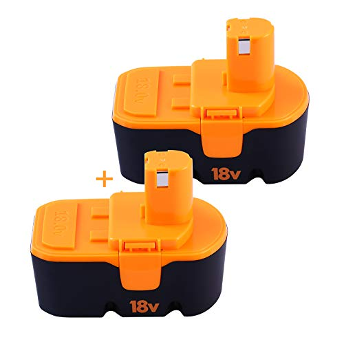 2 Packs 3.6Ah 18V Ni-Mh Replacement for Ryobi 18V Battery P100 P101 ABP1801 ABP1803 BPP1820 130224028 130224007 Compatible with Ryobi One+ Cordless Power Tools