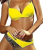 UMIPUBO Conjunto de Bikini Mujer Traje de Baño de Dos Piezas Bolsa rígida de bañador de...