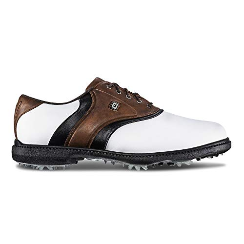 FootJoy Men's Originals Golf Shoes White 11 M Brown, US