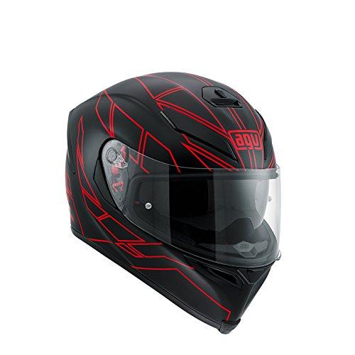 AGV Casco Moto K-5 S E2205 Multi PLK, Hero Black/Red, XL