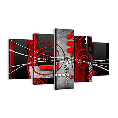 Cuadro sobre lienzo - Impresión de Imagen - Gráfico figuras geométricas círculo - 150x100cm - Imagen Impresión - Cuadros Decoracion - Impresión en lienzo - Cuadros Modernos - EA150x100-0599