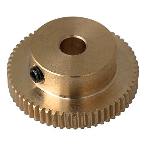 Messing 0.5 Modul 60 Z?hne Z?hne Schneckenrad Schnecken Zahnrad f¨¹r Getriebe Welle Bremse Fahren