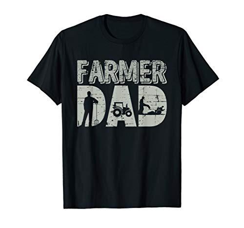 Mens Farmer Dad Shirt Farm Farming Father's Day Gift Tractor