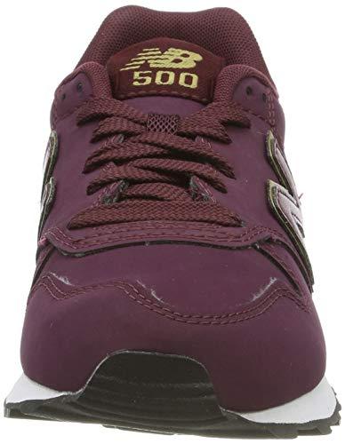 New Balance 500, Zapatillas para Mujer Dorado (Burgundy Burgundy) 36 EU