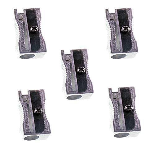 JMS® Pack of 5 x Quality Metal Pencil Sharpner Sharpeners Blade School...